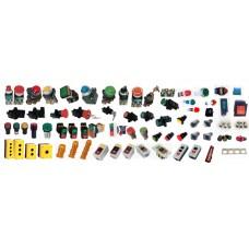 สวิทช์กด 16 มิล  สวิทช์กดมีไฟและไพล็อตแลมป์ แบบ LED