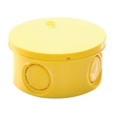 กล่องพักสาย แบบกลม สีเหลือง