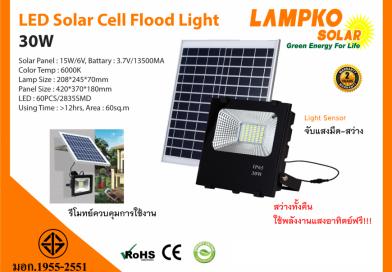 LED SOLAR CELL FLOOD 30W